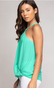 Criss Cross Neck Top -  3 Colors