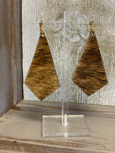 Load image into Gallery viewer, Hair On Hide Earrings - Squared Teardrop - 2 Finishes