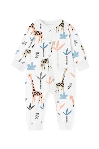 Giraffe Zippy Romper (open feet)