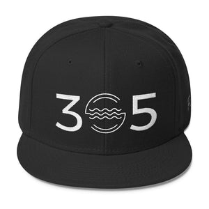 305 Waves Wool Blend Snapback - 305 Clothing Co.
