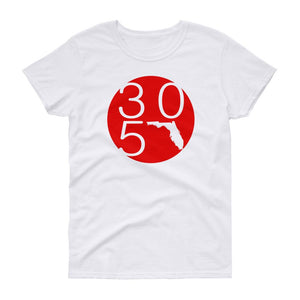 Florida 305 Red Circle Women's T-Shirt - 305 Clothing Co.