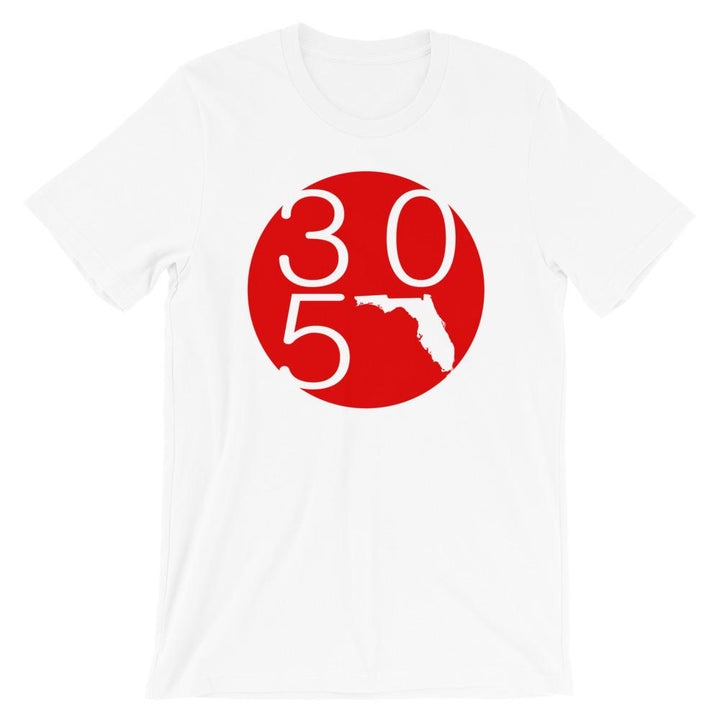 Florida Circle 305 Red T-Shirt - 305 Clothing Co.