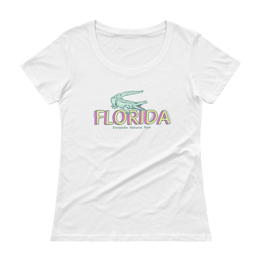 Florida Everglades National Park Ladies' Scoopneck T-Shirt - 305 Clothing Co.