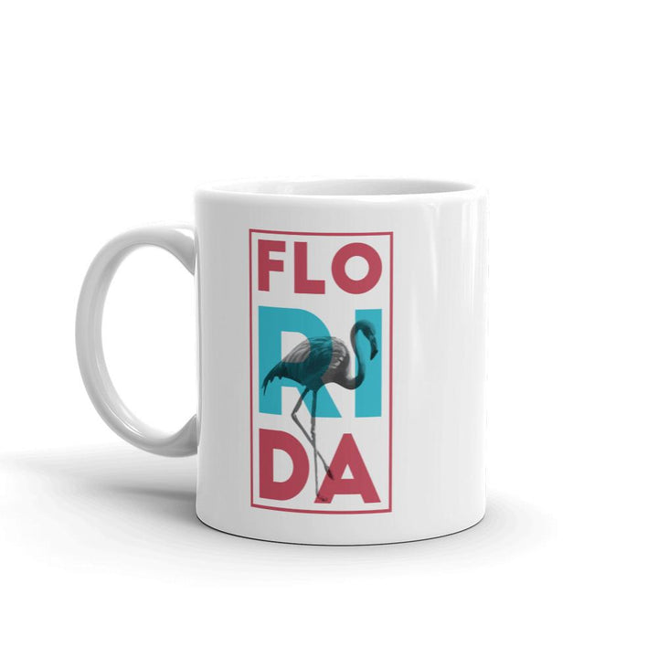 Florida Neon Flamingo Mug - 305 Clothing Co.