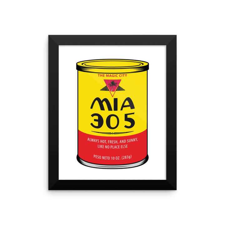 MIA 305 Coffee Framed poster - 305 Clothing Co.