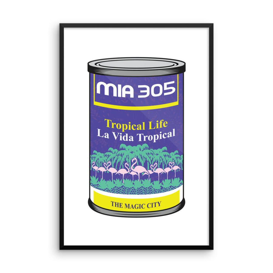 MIA 305 Tropical Life Framed poster - 305 Clothing Co.