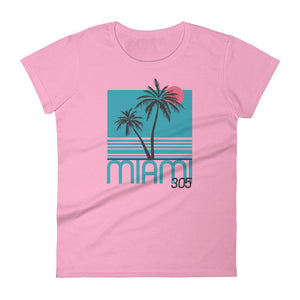 Miami 305 Neon Palms Women's T-Shirt - 305 Clothing Co.