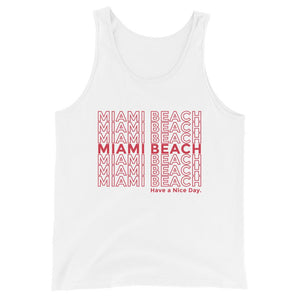 Miami Beach Nice Day Unisex Tank Top - 305 Clothing Co.