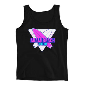 Miami Beach Surf Neon Ladies' Tank - 305 Clothing Co.