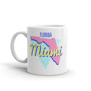Miami Florida Neon 90s Mug - 305 Clothing Co.