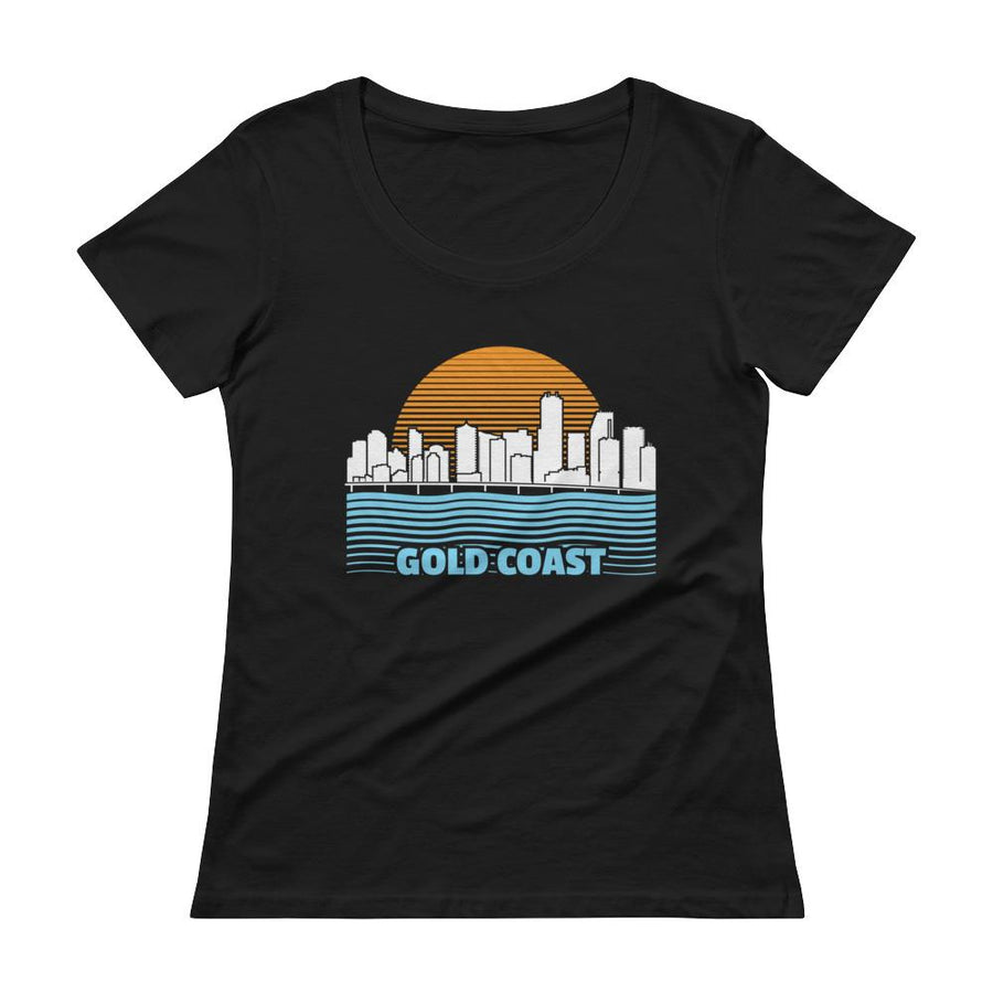 Miami Gold Coast Ladies' Scoopneck T-Shirt - 305 Clothing Co.