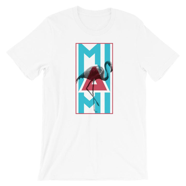 Miami Neon Flamingo Short-Sleeve Unisex T-Shirt - 305 Clothing Co.