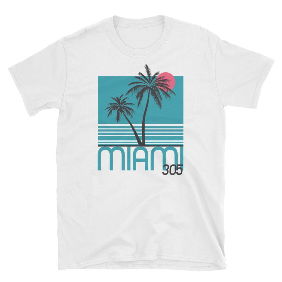 Miami Neon Nights Short-Sleeve Unisex T-Shirt - 305 Clothing Co.