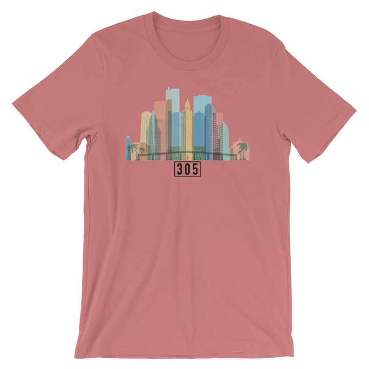 Miami Neon Skyline T-Shirt - 305 Clothing Co.