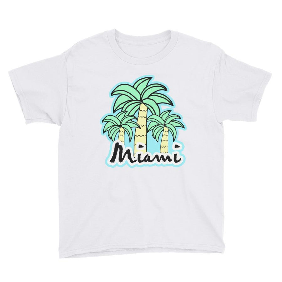 Miami Palm Trees Youth Short Sleeve T-Shirt - 305 Clothing Co.