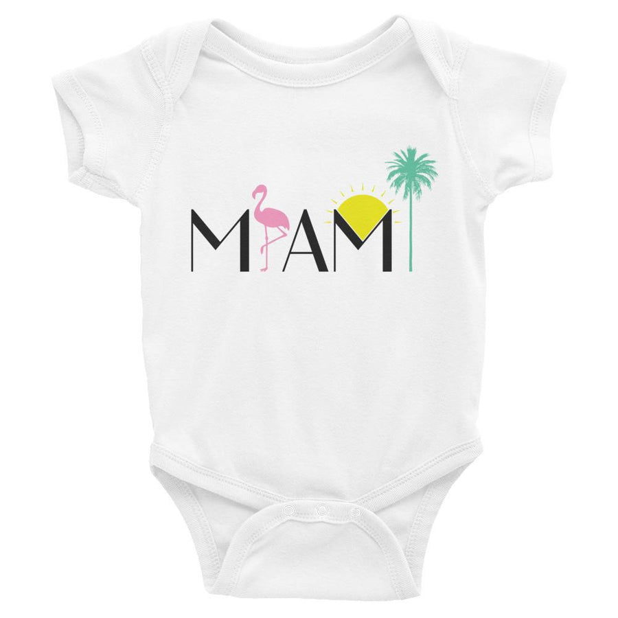 Miami Print Infant Bodysuit - 305 Clothing Co.