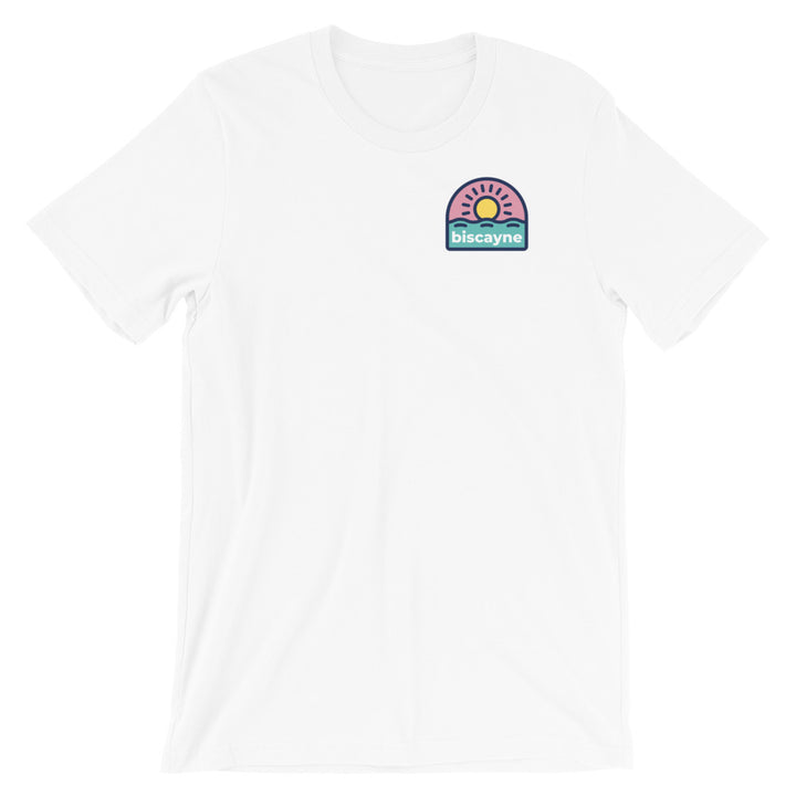 Biscayne Bold Logo Double Sided Short-Sleeve Unisex T-Shirt