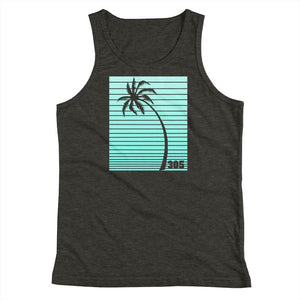 Neon Palm Tree Miami Youth Tank Top - 305 Clothing Co.