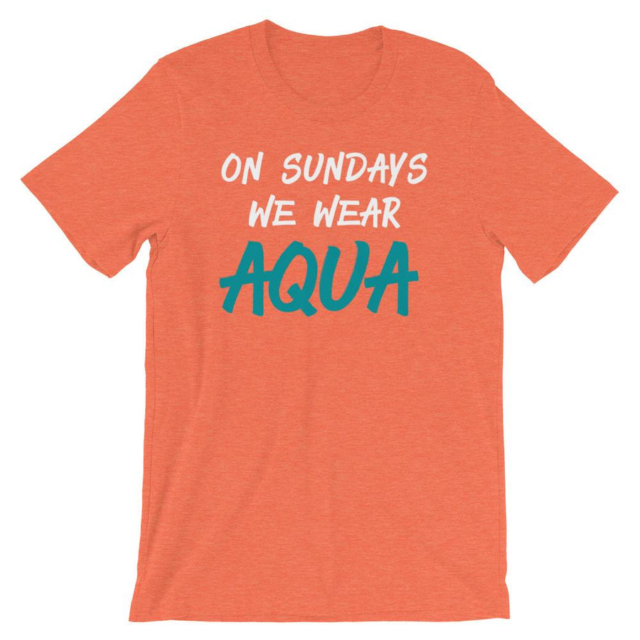 On Sundays We Wear Aqua Fins Short-Sleeve Unisex T-Shirt - 305 Clothing Co.