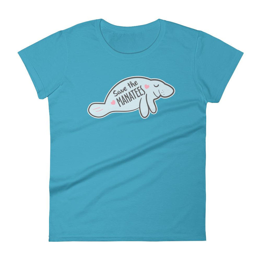 Save the Manatees Women's T-Shirt - 305 Clothing Co.