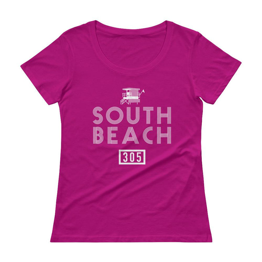 South Beach Miami Mi Barrio Ladies' Scoopneck T-Shirt - 305 Clothing Co.