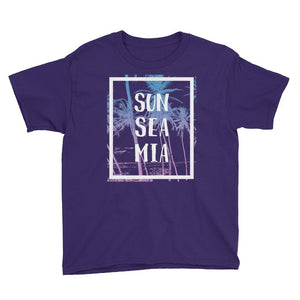 Sun Sea Miami Florida Youth Short Sleeve T-Shirt - 305 Clothing Co.