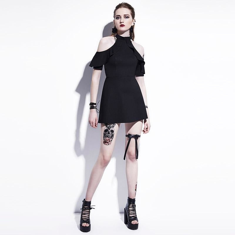 Calista - Black Mini Dress – Satanic Apparel