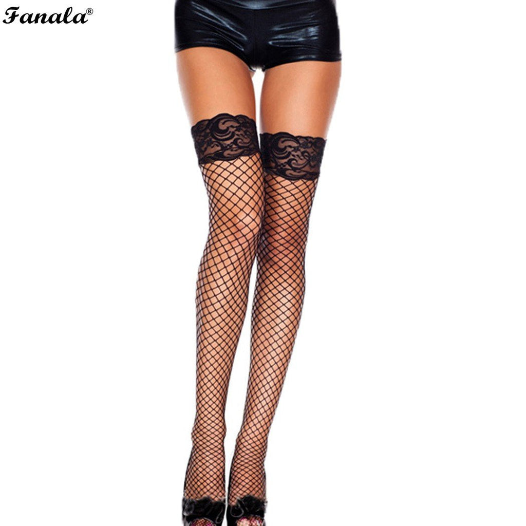 Sexy Fishnet Lace Stockings - 3 Colours - Lacies.co