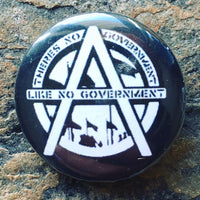 anti government badges, punk badges