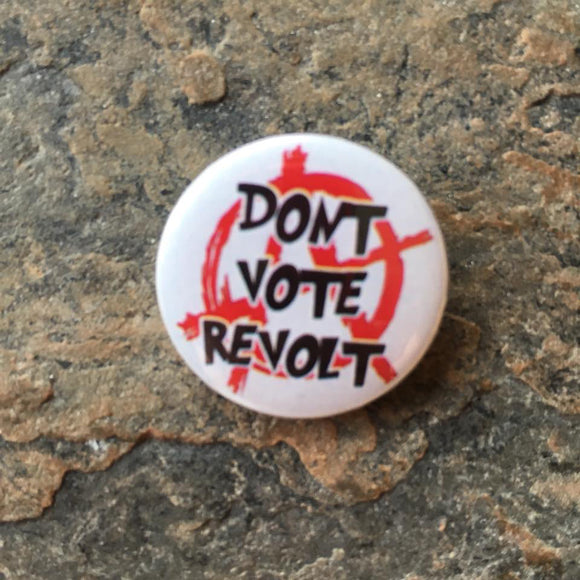 anti voting pin badge
