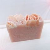 Palmarosa Geranium & Pink Clay Handmade Vegan Soap Bar, minimum 100g