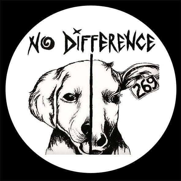 'No Difference' vegan pin badge 25mm