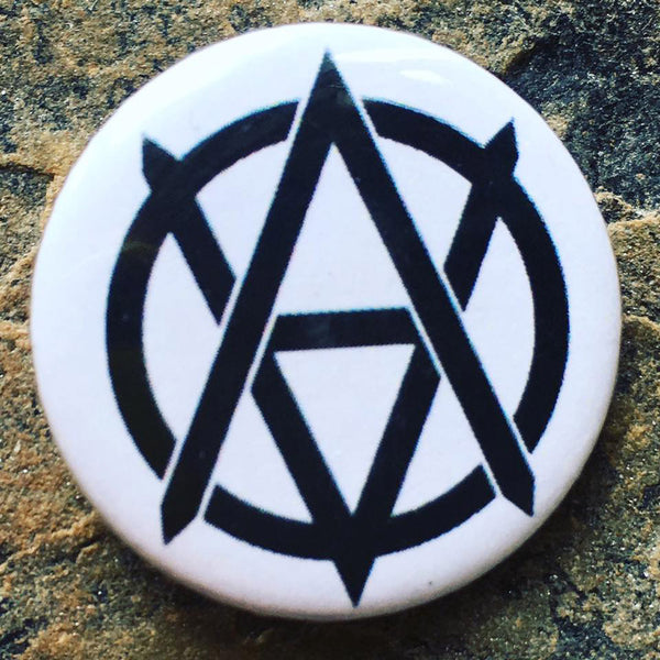 vegan badge, vegan anarchy symbol, vegan pin badge