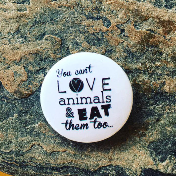 vegan pin badges