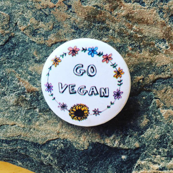 go vegan badge uk