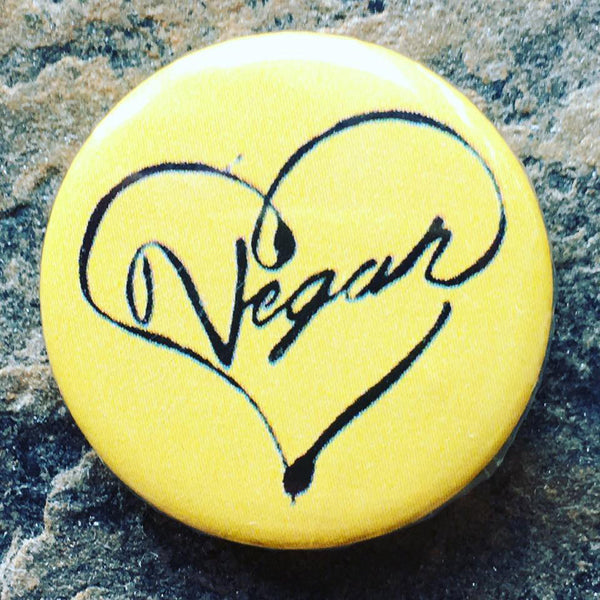 vegan badge, animal rights badge