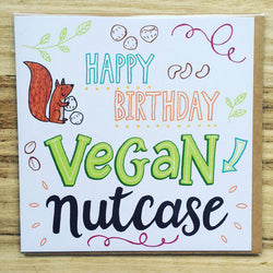 vegan birthday card for him or her