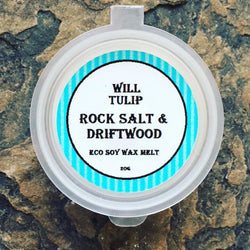 Rock Salt & Driftwood, Unisex, Soy Wax Vegan Candle Melt, 25ml