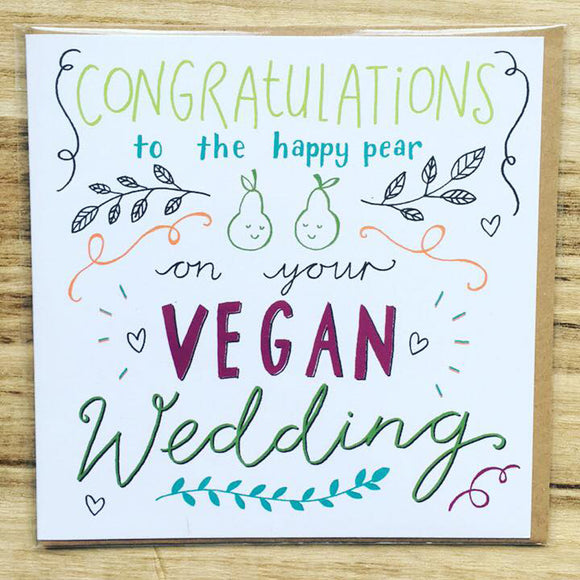vegan wedding card, vegan wedding gift