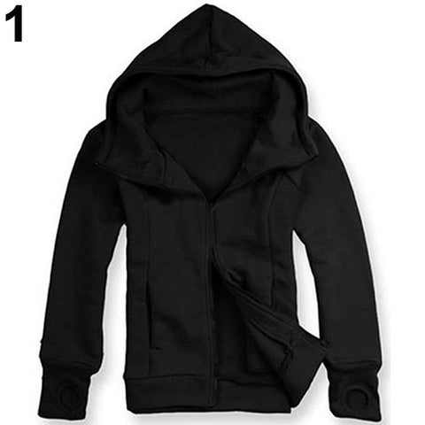 Men Winter Warm Long Sleeve Hooded Sweatshirt.