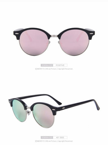 MERRY'S Men Retro Rivet Polarized Sunglasses