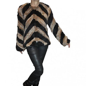 Wildfur Jacket - Caramel and Black