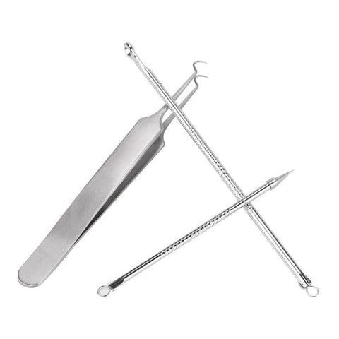 3Pcs Removal Blackhead, Stainless Facial Acne Spot Removal Blackhead Needle Skin Care Extractor Acne Face Cleaning Tools Black Head - blackhead-shop