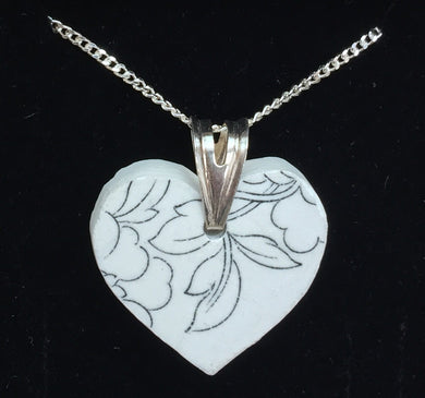 Sea pottery heart necklace