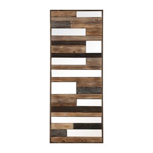 Wooden Mirrored Wall Decor