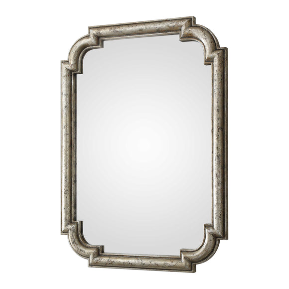 Distressed Silver Leaf Mirror