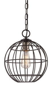 Black And Brushed Nickel One-Light Pendant