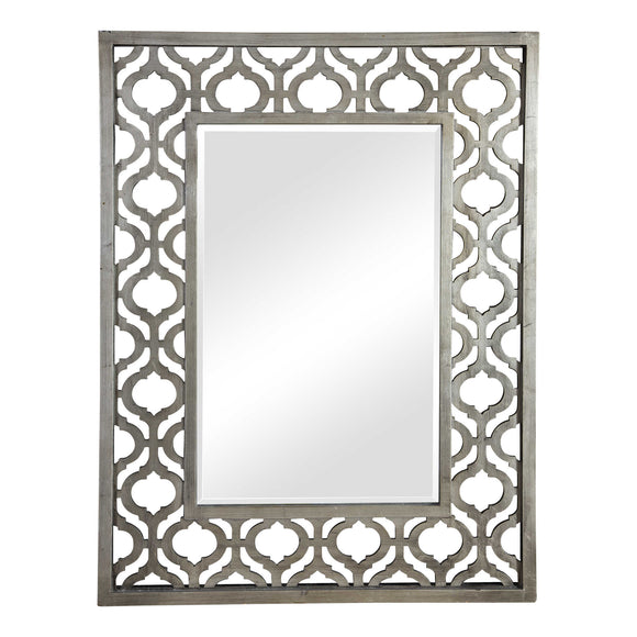 Antique Silver Leaf Decorative Mirror
