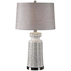 Embossed Ceramic Table Lamp