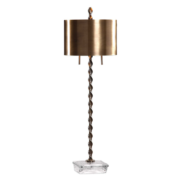 Twisted Steel Buffet Lamp